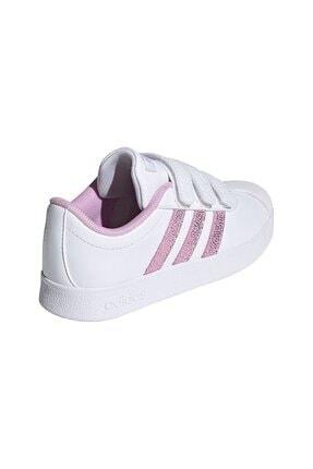 adidas VL COURT 2.0 CMF C Beyaz Kız Çocuk Sneaker Ayakkabı 101085040 2