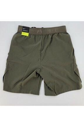 Nike Erkek Yeşil Mens Flex Drı Fıt Traınıng Gym Burnt Shorts Antreman Şortu 4