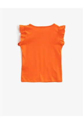 Koton Kız Çocuk Turuncu Basic Tisört 1