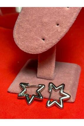 Cute Thing Yıldız Model Gümüş Kaplama Çift Küpe 0