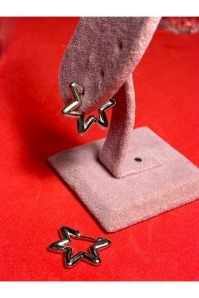 Cute Thing Yıldız Model Gümüş Kaplama Çift Küpe 1
