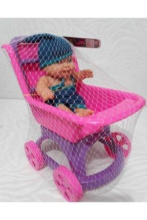 Efe Oyuncak Kız Çocuk Pembe Pusette Oyuncak Et Bebek 1