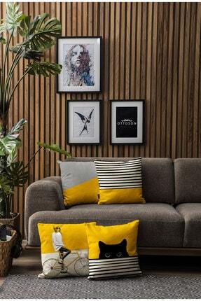 Ottoson Home Özel Tasarım Dekoratif Kırlent Kılıfı 4lü 2