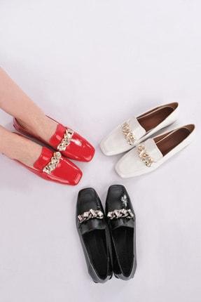 Marjin Kadın Beyaz Rugan Loafer Ayakkabı Bifan 1