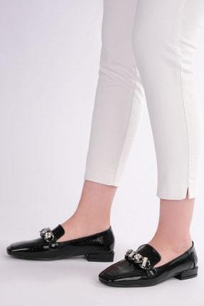 Marjin Kadın Siyah Rugan Loafer Ayakkabı Bifan 1
