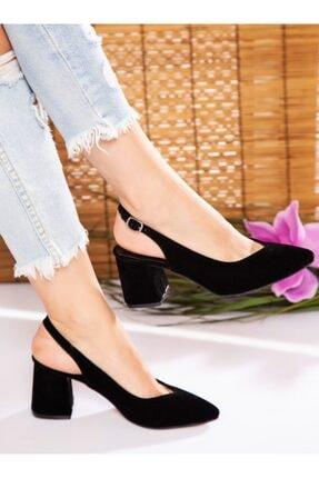 ayakkabıhavuzu Kadın Siyah Süet Topuklu Ayakkabı 2
