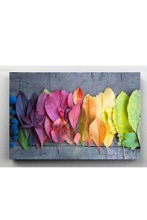 hanhomeart Mevsim Geçişi Yaprak Kanvas Tablo 60x120 cm 1
