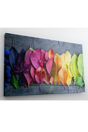 hanhomeart Mevsim Geçişi Yaprak Kanvas Tablo 60x120 cm 2