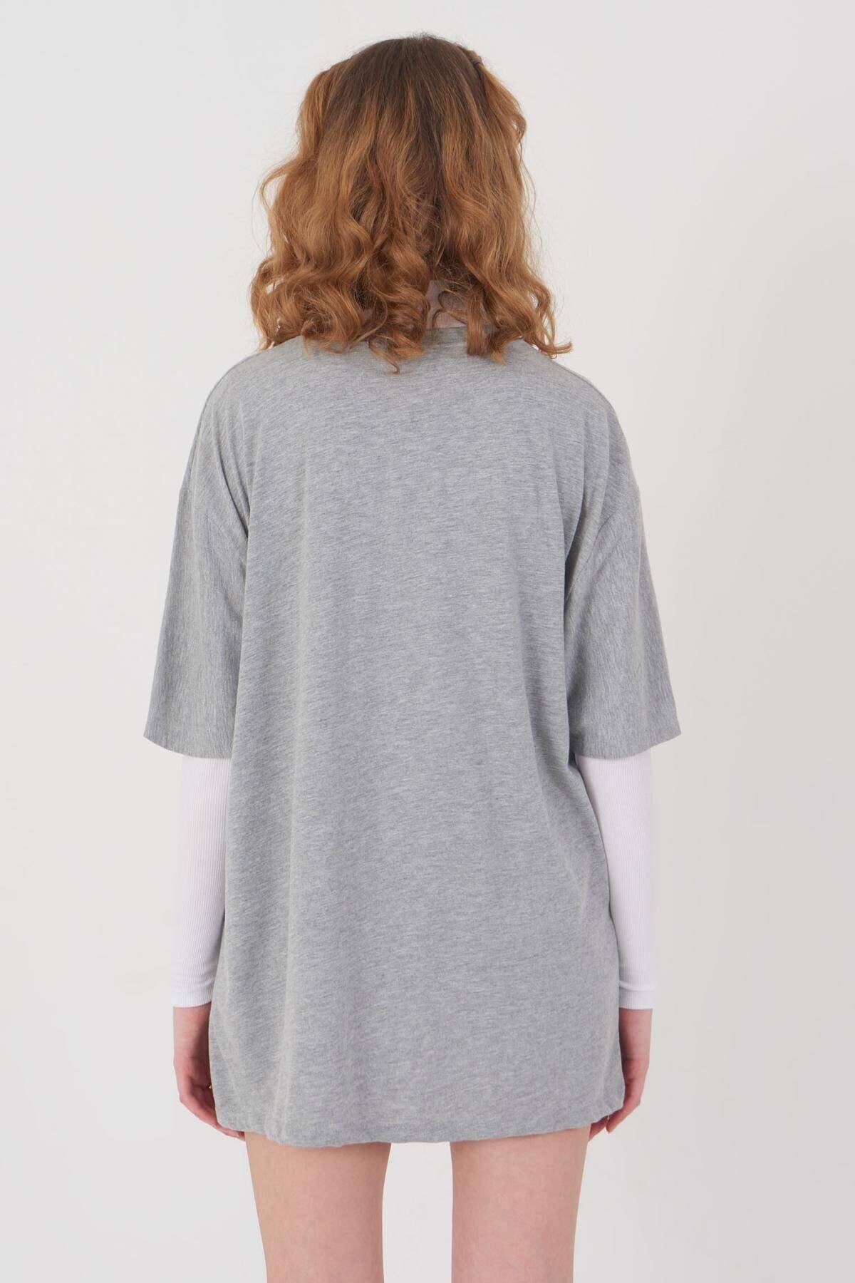 Addax Baskılı T-shirt P9549 - B10 4