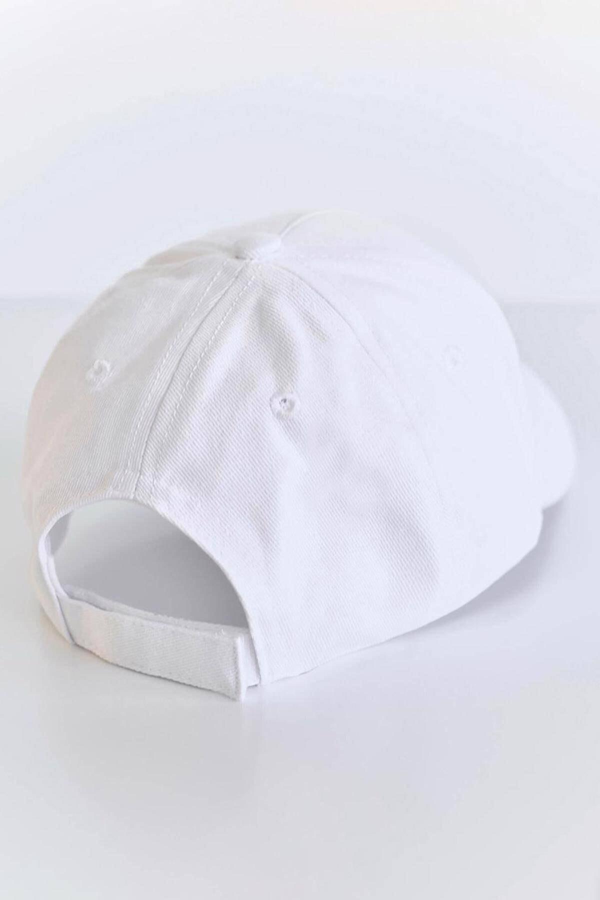 Addax Kadın Beyaz Unisex Şapka ŞPK1007 ADX-0000022027 3