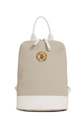 US Polo Assn A.Gri-Beyaz Kadin Sirt Çantasi Us3031 1