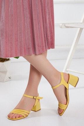 Kadın Sarı Topuklu Ayakkabı maxima