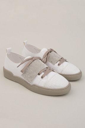 Marjin Kadın Beyaz Gümüş Sneaker Spor Ayakkabı Noni 3