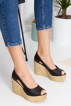 derithy Kadın Siyah Older Dolgu Topuklu Ayakkabı lzt0536 3