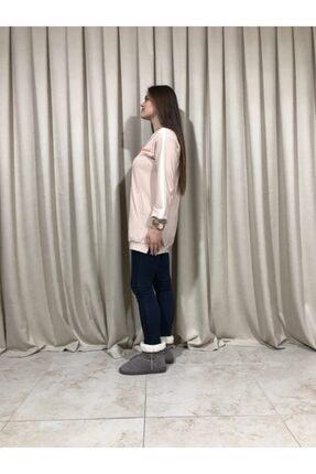 Loreen Kadın Bej Sweatshirt Tunik 1