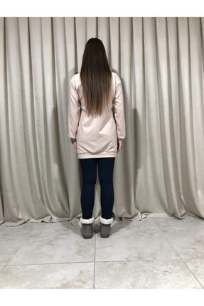 Loreen Kadın Bej Sweatshirt Tunik 2