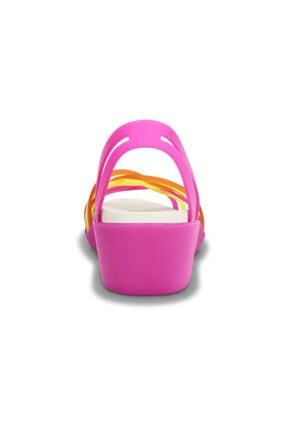 Crocs HUARACHE MINI WEDGE WOMEN Fuşya Kadın Sandalet 100528942 4