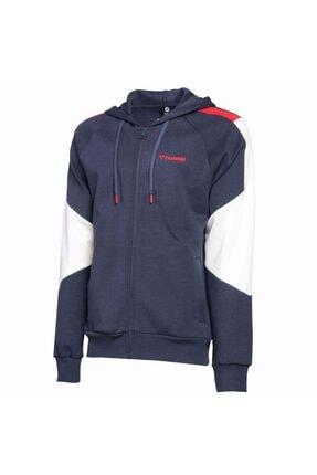 HUMMEL Erkek Lacivert Fermuarlı Sweatshirt 1