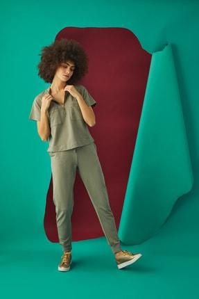 GİZZEY Kadın Haki Pantolon Takım 20592 3