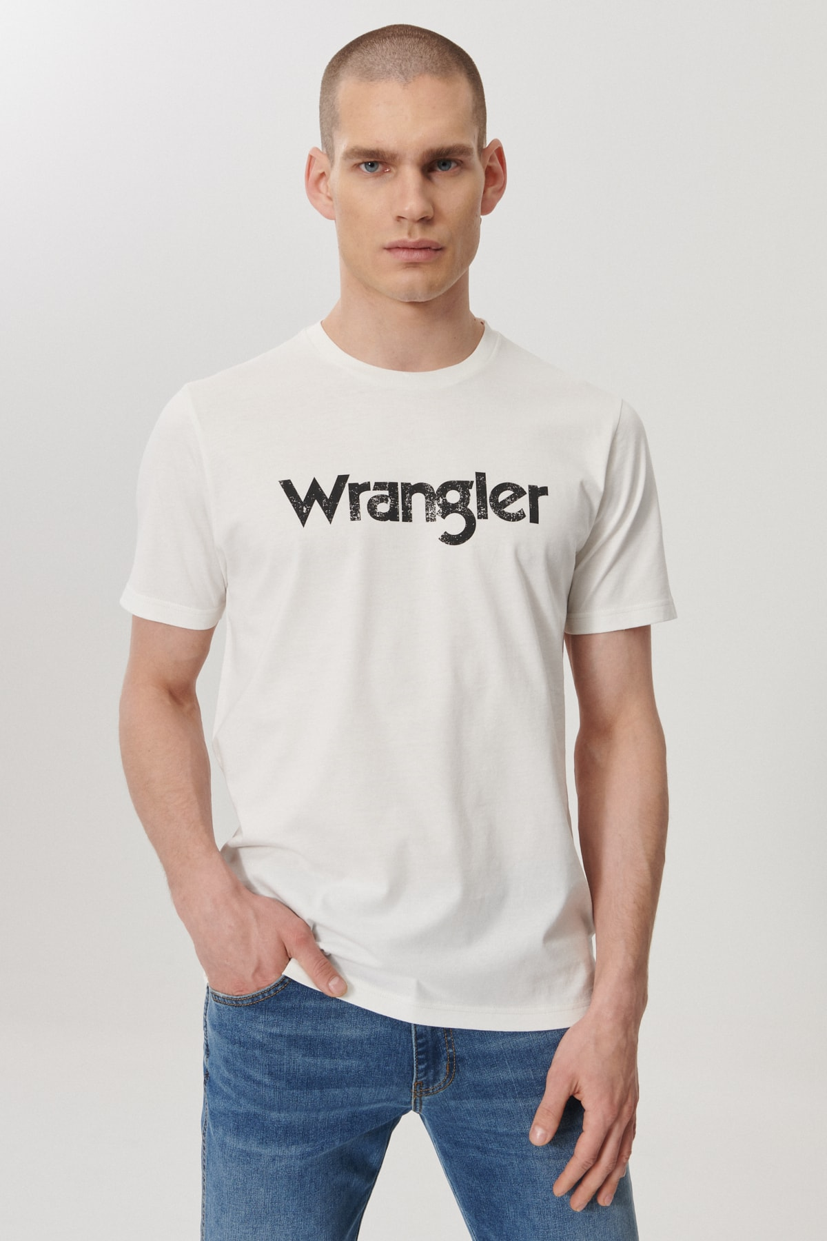 Wrangler Regular Fit Bol Kesim Sıfır Yaka %100 Koton Logolu Tişört 0