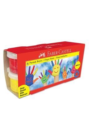 Faber Castell 6 Renk Parmak Boyası 6x45 ml. 0