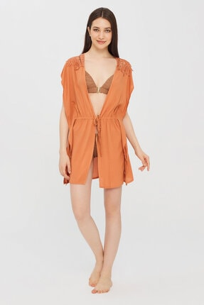 Penti Kadın Koyu Turuncu Leavy Kimono 3