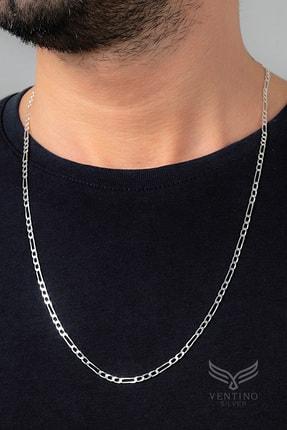 Ventino Silver Erkek Figaro Gümüş Zincir Kolye Vek-3025 1