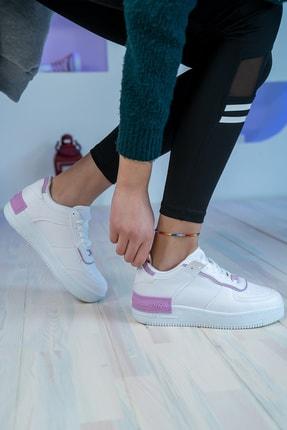 Bartrobel Kadın Beyaz Lila Sneaker Günlük Ayakkabı 1