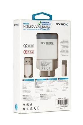 Syrox Hızlı Şarj Aleti Q30 Microusb 3.0a 2