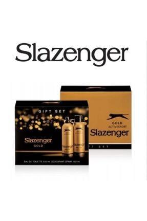 Slazenger Active Sport Gold 125 Ml + 150 Ml Deodorant Erkek Parfümü Yeni Ürün 0
