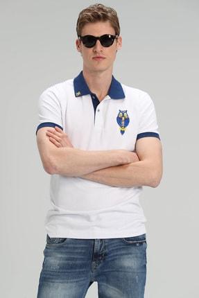 Lufian Palm Spor Polo T- Shirt Beyaz 2