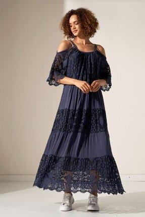 Camena Omzu Açık Dantelli Elbise 2019070500202 1