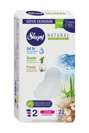 Sleepy Hijyenik Ped  Natural Ultra Hassas Hijyenik Ped Uzun 22 Adet 0