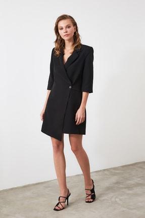 TRENDYOLMİLLA Siyah Kruvaze Ceket Elbise TWOSS19AA0062 3