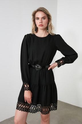 TRENDYOLMİLLA Siyah Güpürlü Elbise TWOAW20EL0587 1