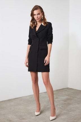 TRENDYOLMİLLA Siyah Ceket Elbise TWOAW20EL0334 0