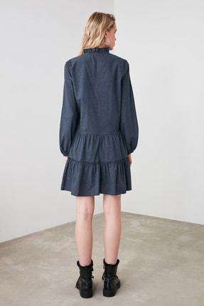 TRENDYOLMİLLA Lacivert Geniş Kesim Fırfırlı Elbise TWOAW20EL1506 3