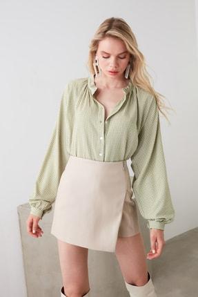 TRENDYOLMİLLA Yeşil Ekoseli Gömlek TWOAW21GO0114 1