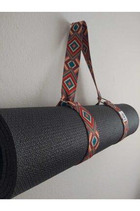 Om Guru Yoga Desenli Mat Taşıma Askısı Kırmızı 3