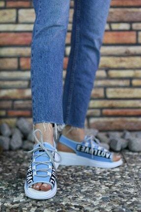 Riccon Mavi Kadın Sandalet 0012999 2