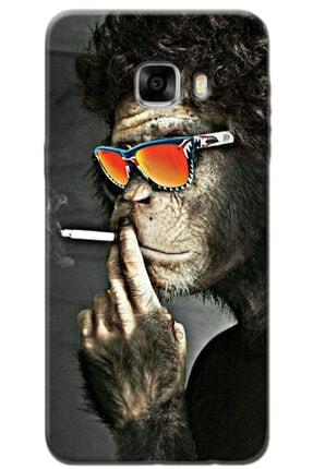 Turkiyecepaksesuar Samsung Galaxy C5 Kılıf Silikon Baskılı Desenli Arka Kapak 0
