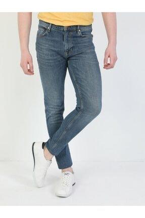 035 Ryan Yüksek Bel Dar Paça Skinny Fit Mavi Erkek Jean Pantolon resmi