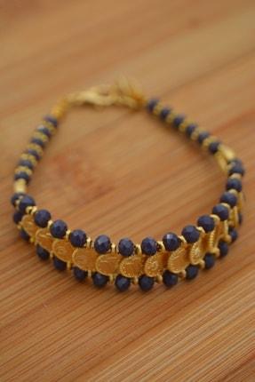 Stoneage Altın Kaplama Bileklik Çek Kristali 1