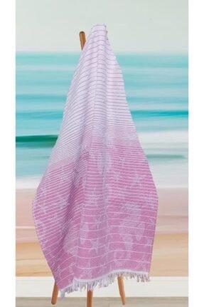 Riva Havlu Peştemal, Plaj Havlusu, Banyo Havlusu, Pembe Denizatı Desen 0