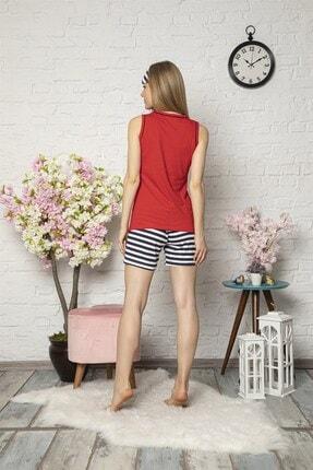 Mirano Kadın Kırmızı Love Baskılı Şortlu Pijama Takım 3