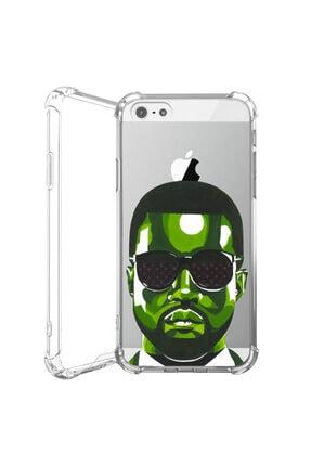 cupcase Iphone 5s Kanye Kılıf Antishock Darbe Korumalı Desenli Silikon Telefon Kabı 0