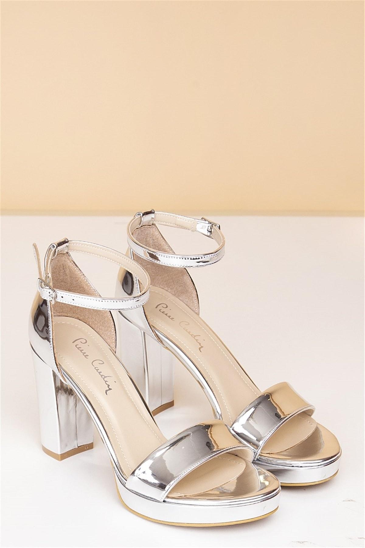 Pierre Cardin Kadın Topuklu Ayakkabı-rugan Gümüş