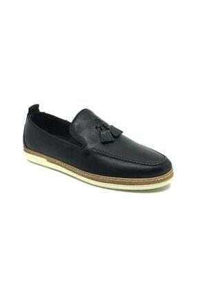 Taşpınar Erkek  Siyah  Deri Tam Ortopedik  Günlük Yazlık Ayakkabı 0