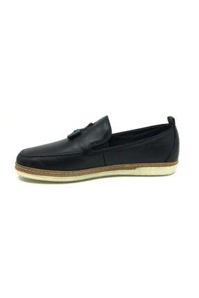 Taşpınar Erkek  Siyah  Deri Tam Ortopedik  Günlük Yazlık Ayakkabı 2
