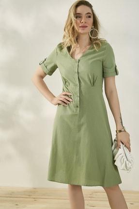 Peeri Kadın Çağla Yeşili Elbise P529Kel153 1